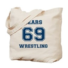 Bears Wrestling Tote Bag