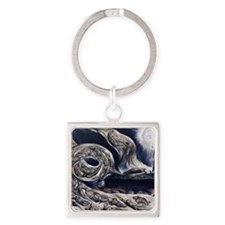 Whirlwind of Lovers Square Keychain