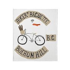 bikernbaguette Throw Blanket