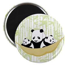 Panda in Hammock Magnets
