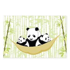 Panda in Hammock Postcards (Package of 8)