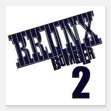 "Bronx Bomber Jeter No 2 Square Car Magnet 3"" x 3"""