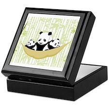 Panda in Hammock Keepsake Box