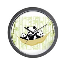 Panda in Hammock Wall Clock