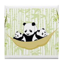 Panda in Hammock Tile Coaster