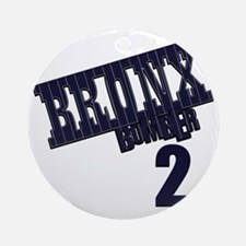 Bronx Bomber Jeter No 2 Round Ornament