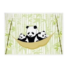 Panda in Hammock 5'x7'Area Rug