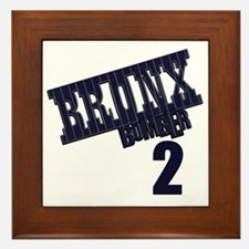 Bronx Bomber Jeter No 2 Framed Tile