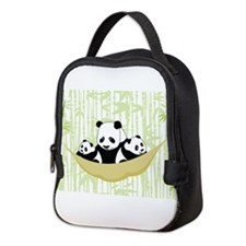 Panda in Hammock Neoprene Lunch Bag