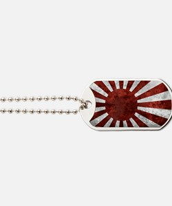 Japanese Land Rising Sun Sticker Dog Tags