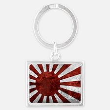 Japanese Land Rising Sun Sticke Landscape Keychain