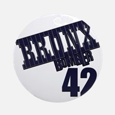 Bronx Bomber Rivera No 42 Round Ornament