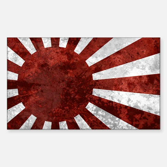 Japanese License Plate Rising  Sticker (Rectangle)