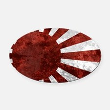 Japanese License Plate Rising Sun Oval Car Magnet