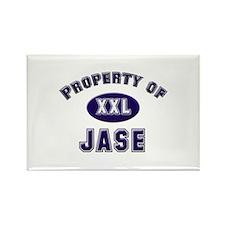 Property of jase Rectangle Magnet