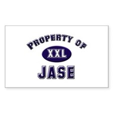 Property of jase Rectangle Decal