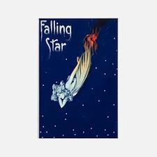 Falling Star Rectangle Magnet
