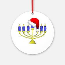 Christmas Menorah Ornament (Round)