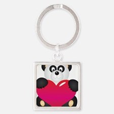 Panda with Heart Keychains