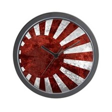 Japanese Rising Sun Mousepad Wall Clock