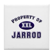 Property of jarrod Tile Coaster