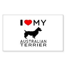 I Love My Australian Terrier Decal