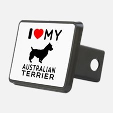 I Love My Australian Terrier Hitch Cover