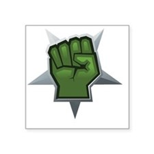 "Beat Down! Square Sticker 3"" x 3"""
