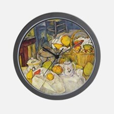 Still Life with Fruit Basket Wall Clock