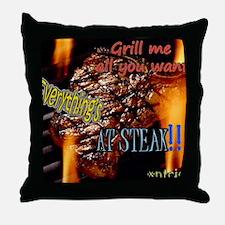 everythings at steak2  Throw Pillow