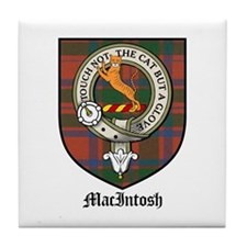 MacIntosh Clan Crest Tartan Tile Coaster