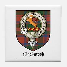 MacIntosh Clan Crest Tartan Tile Coaster