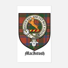 MacIntosh Clan Crest Tartan Rectangle Decal