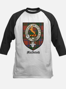 MacIntosh Clan Crest Tartan Kids Baseball Jersey