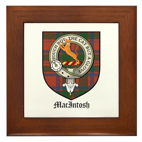 MacIntosh Clan Crest Tartan Framed Tile