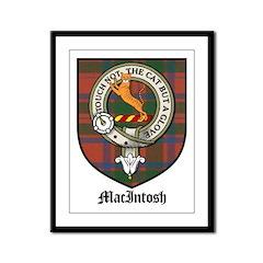 MacIntosh Clan Crest Tartan Framed Panel Print