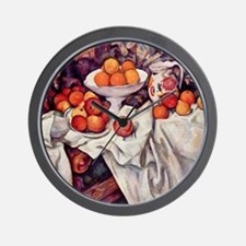 Still Life with Apples and Oranges Wall Clock