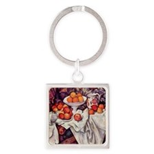 Still Life with Apples and Oranges Square Keychain