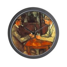 The Cardplayers Wall Clock