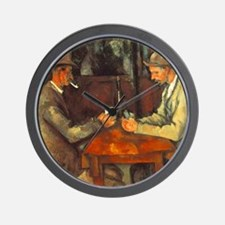 The Cardplayers Wall Clock