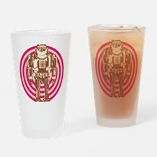 Robot Girl Colors Drinking Glass
