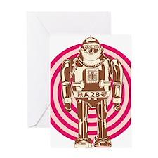 Robot Girl Colors Greeting Card