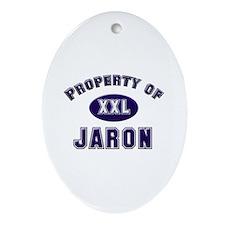 Property of jaron Oval Ornament