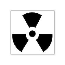 "Radioactive Square Sticker 3"" x 3"""
