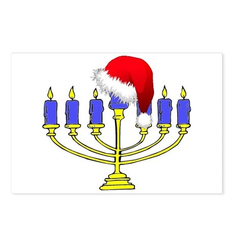 Christmas Menorah Postcards (Package of 8)
