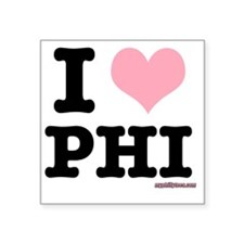 "iheartphiblack Square Sticker 3"" x 3"""