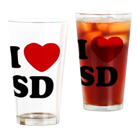 I Heart San Diego Drinking Glass