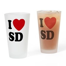 I Heart San Diego Drinking Glass