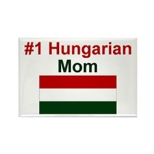 #1 Hungarian Mom Rectangle Magnet