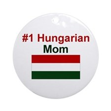 #1 Hungarian Mom Ornament (Round)